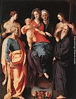 Jacopo Pontormo Madonna and Child with St Anne and Other Saints painting